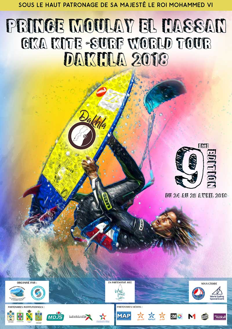 Dakhla 2018 GKA Kite-Surf World Tour event poster