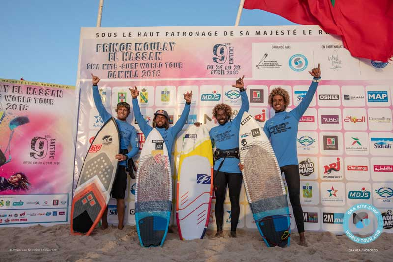 GKA Dakhla Day Two - Single Elimination - Men's Podium