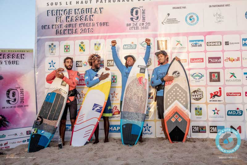 GKA Kite-Surf World Tour Dakhla - Finals - Men's Podium