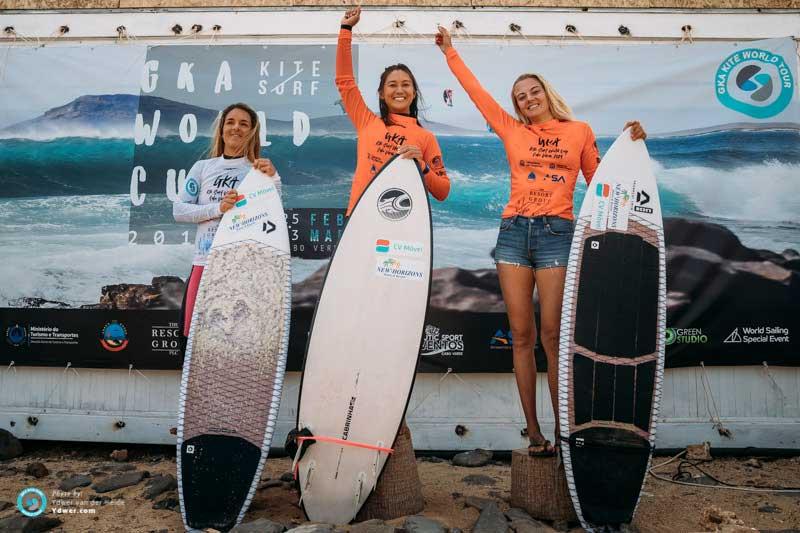 GKA Kite-Surf World Cup Cape Verde 2019 womens podium