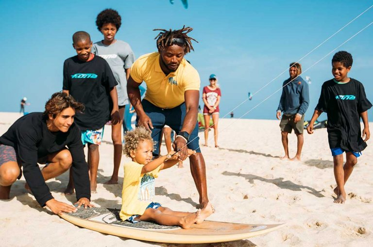 Image for Moments: Teaching Kids to Kite in Cabo Verde with the Pros