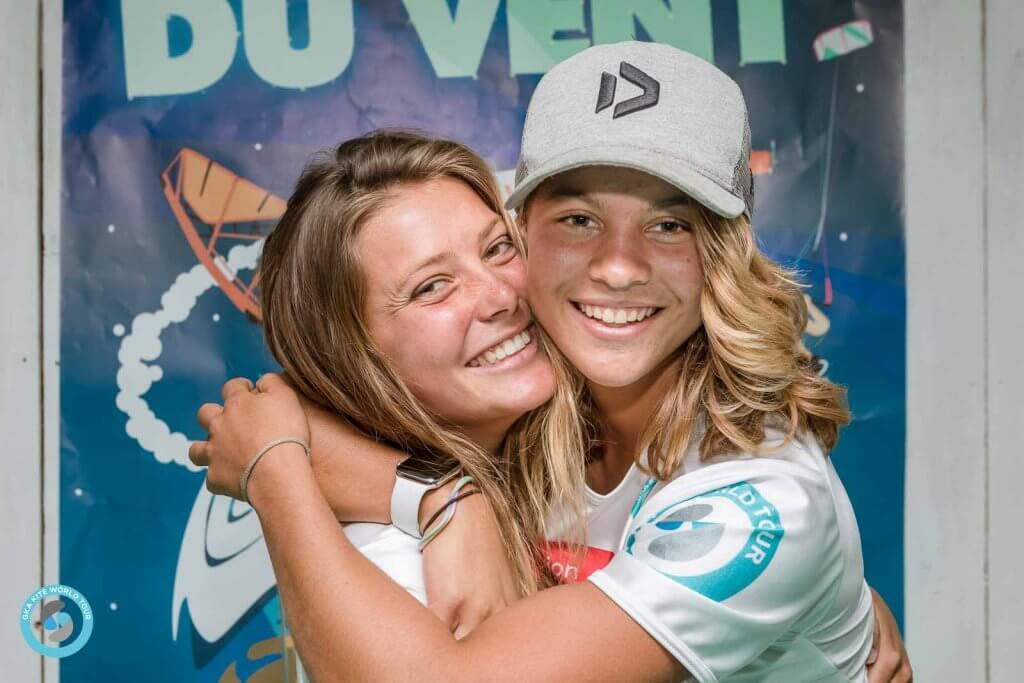 Mikaili Sol and Natalie Lambrecht freestyle kiteboarders