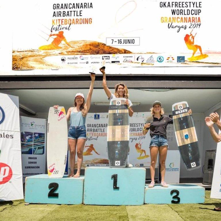 GKA Gran Canaria 2019 women's podium