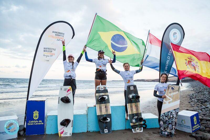 GKA Gran Canaria women's podium