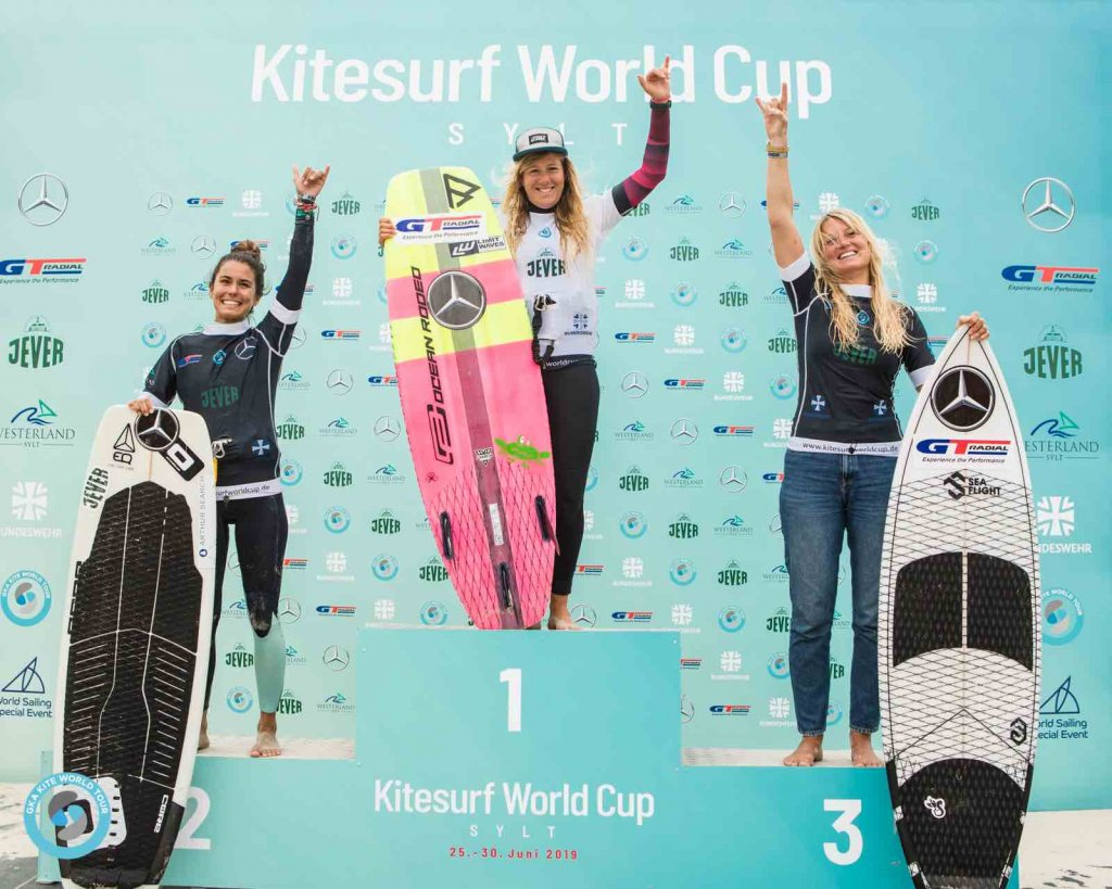 GKA Kite-Surf World Cup 2019 women's podium