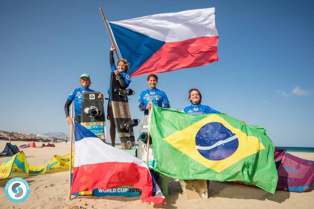 Women's Podium - GKA Freestyle World Cup Fuerteventura