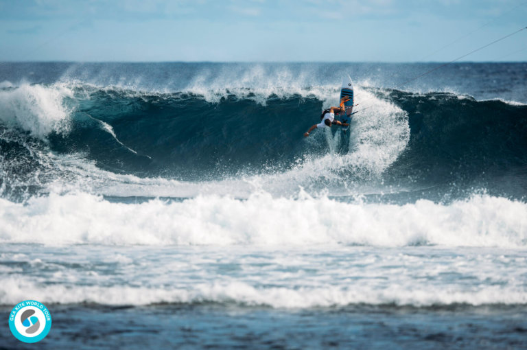Image for GKA Kite World Cup Mauritius: Day One – 8 Kite-Surf heats completed for the men