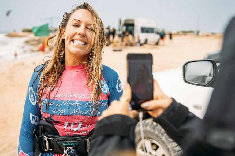 Image for Kirsty Jones Wins GKA Kite World Cup Dakhla Kite-Surf Division!