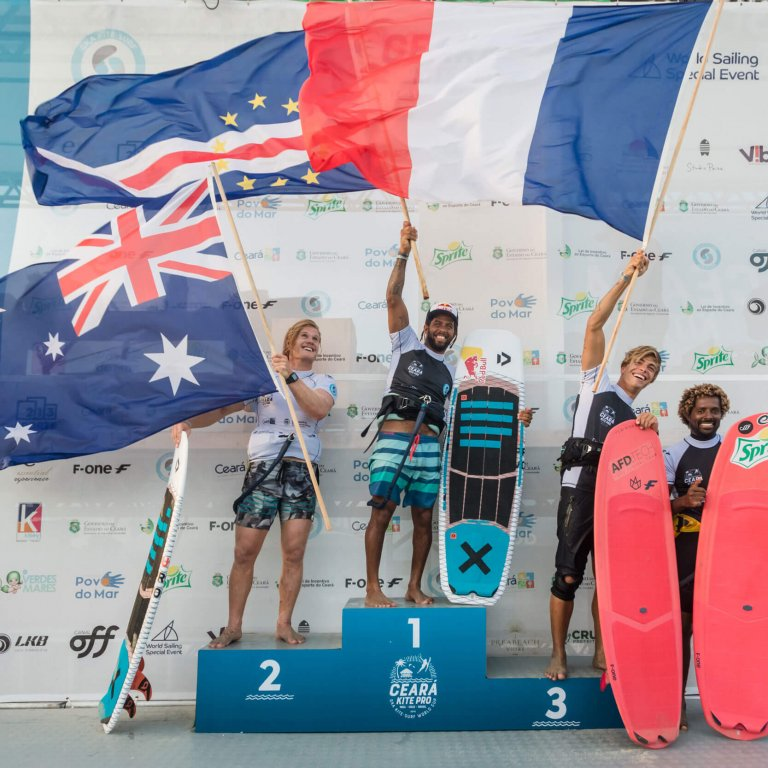 GKA Kite World Cup Brazil singles podium