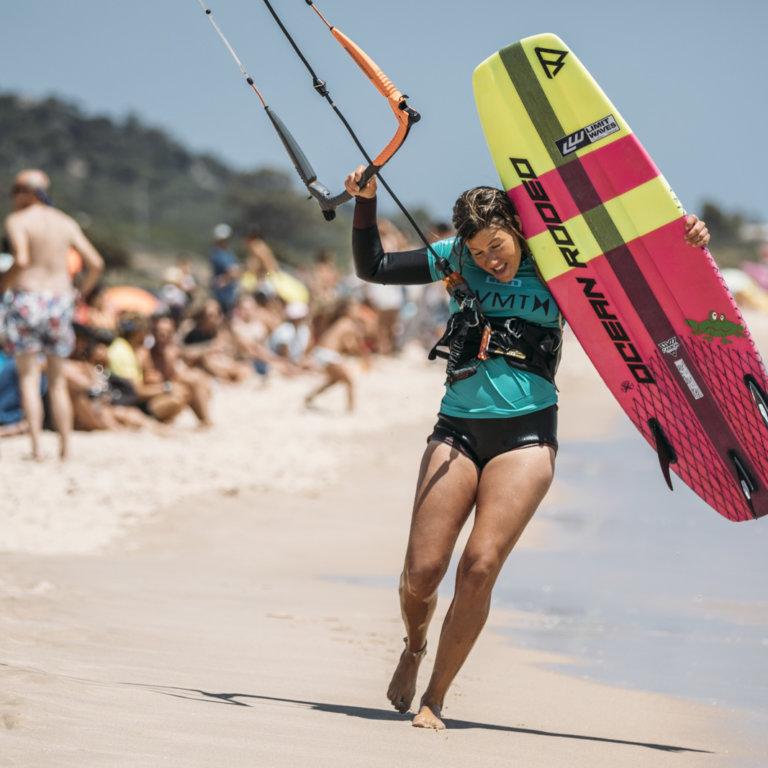 Carla Herrera Oria - singles winner GKA Kite World Cup Tarifa
