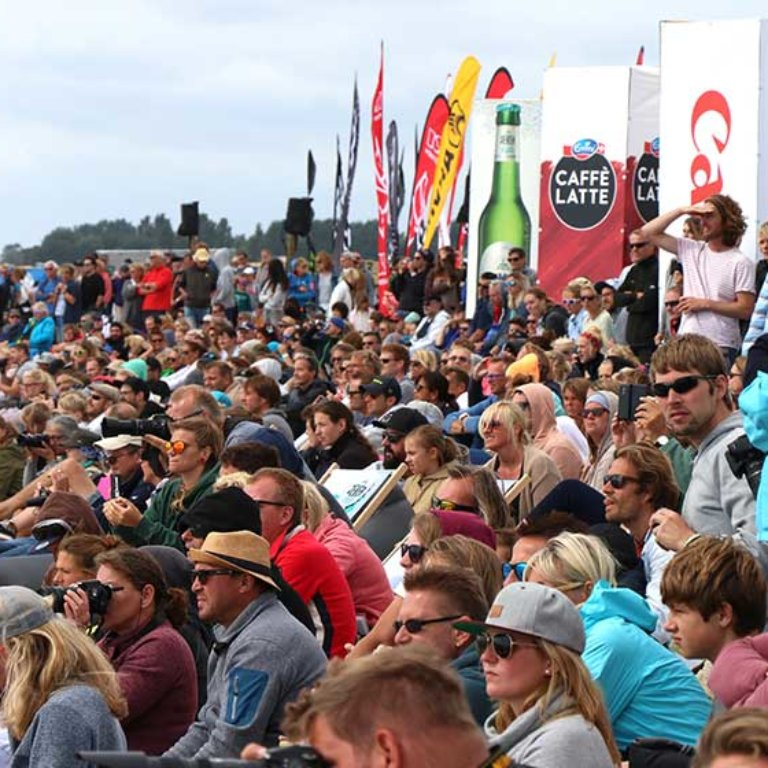 Crowds at GKA Kite-Surf World Tour Germany