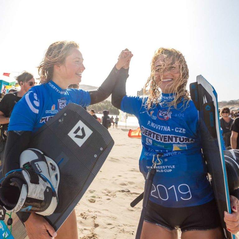 Paula Novotna - Pippa van Iersel GKA Freestyle World Cup Fuerteventura